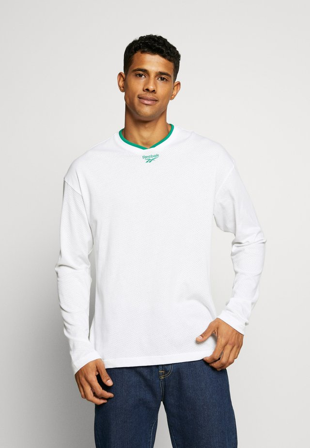 TEAM TEE - Long sleeved top - white