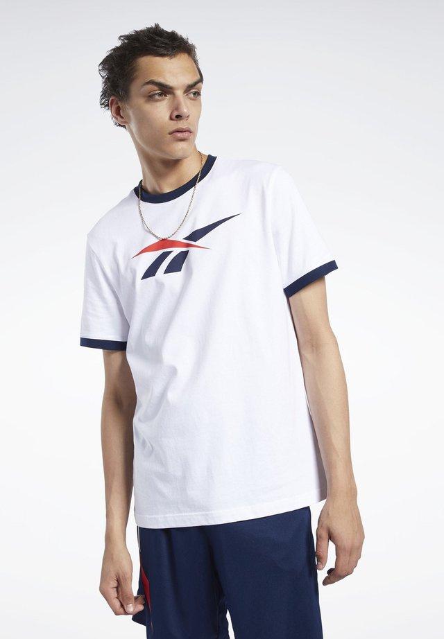 CLASSICS RINGER TEE - T-Shirt print - white