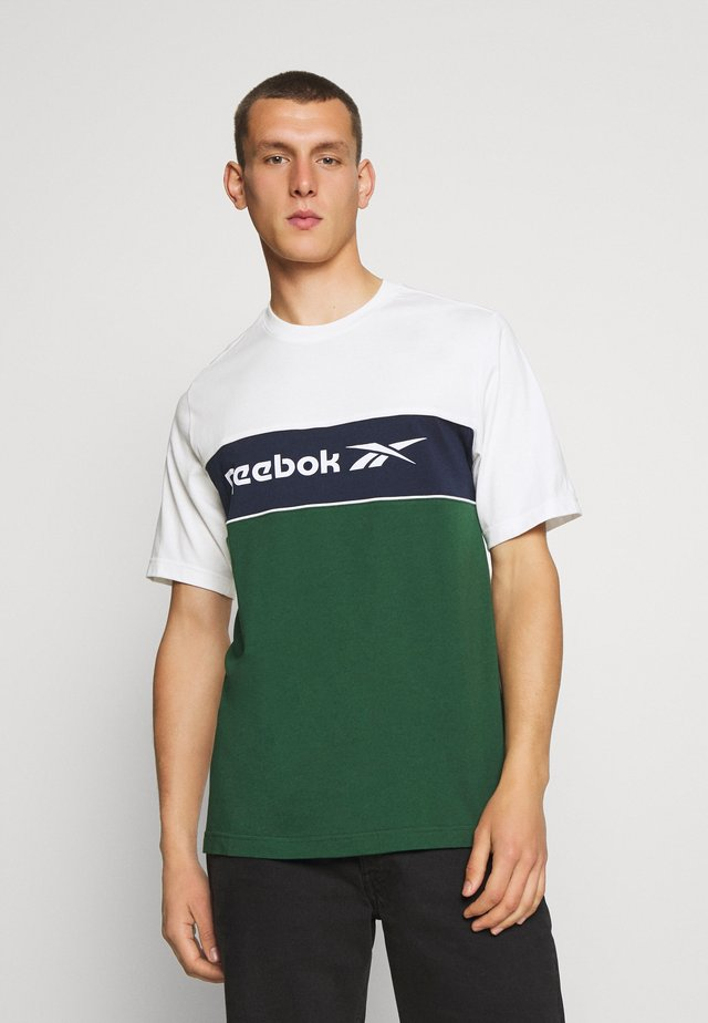 LINEAR TEE - Print T-shirt - chalk
