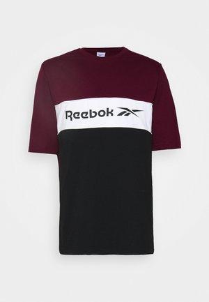 LINEAR TEE - Camiseta estampada - maroon