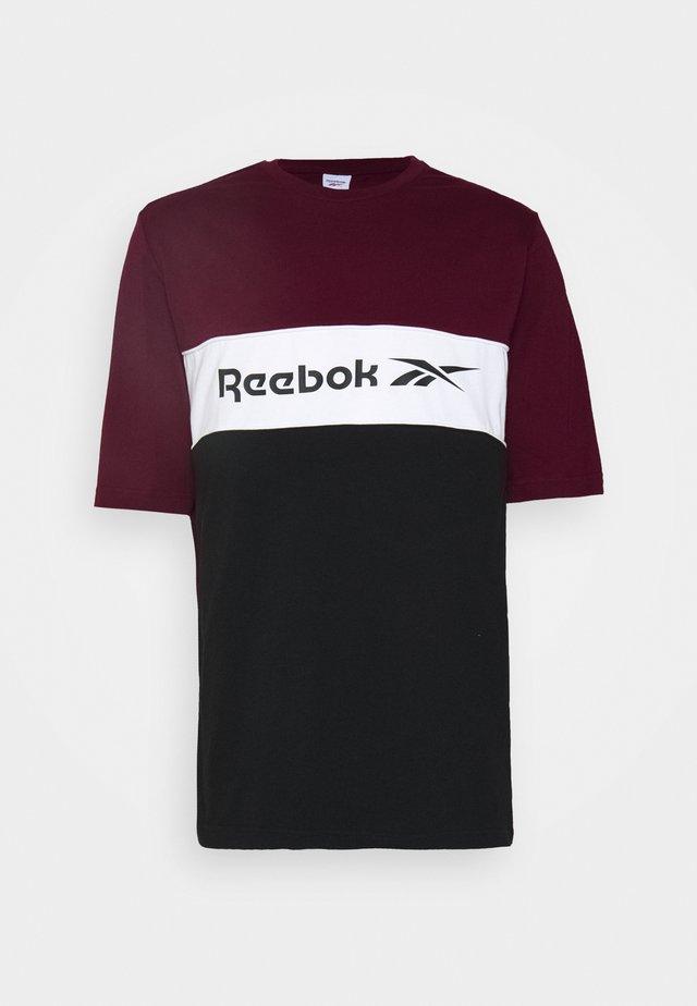 LINEAR TEE - Print T-shirt - maroon