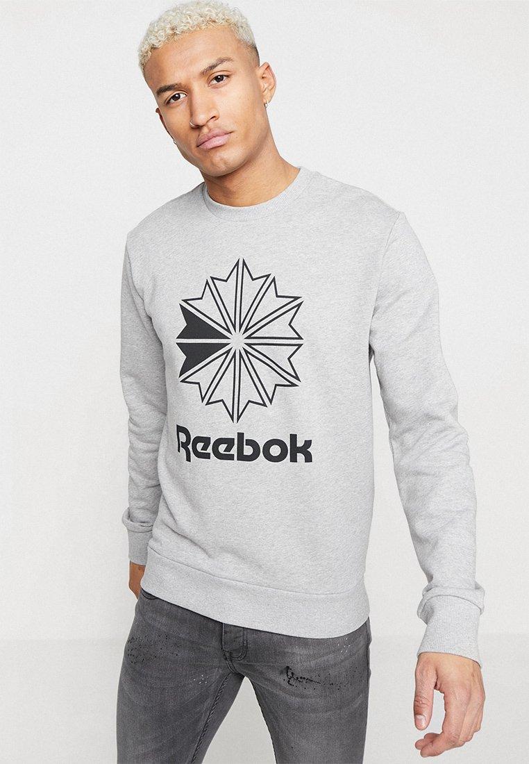 Reebok Classic - BIG STARCREST CREW - Sweatshirt - medium grey heather/black