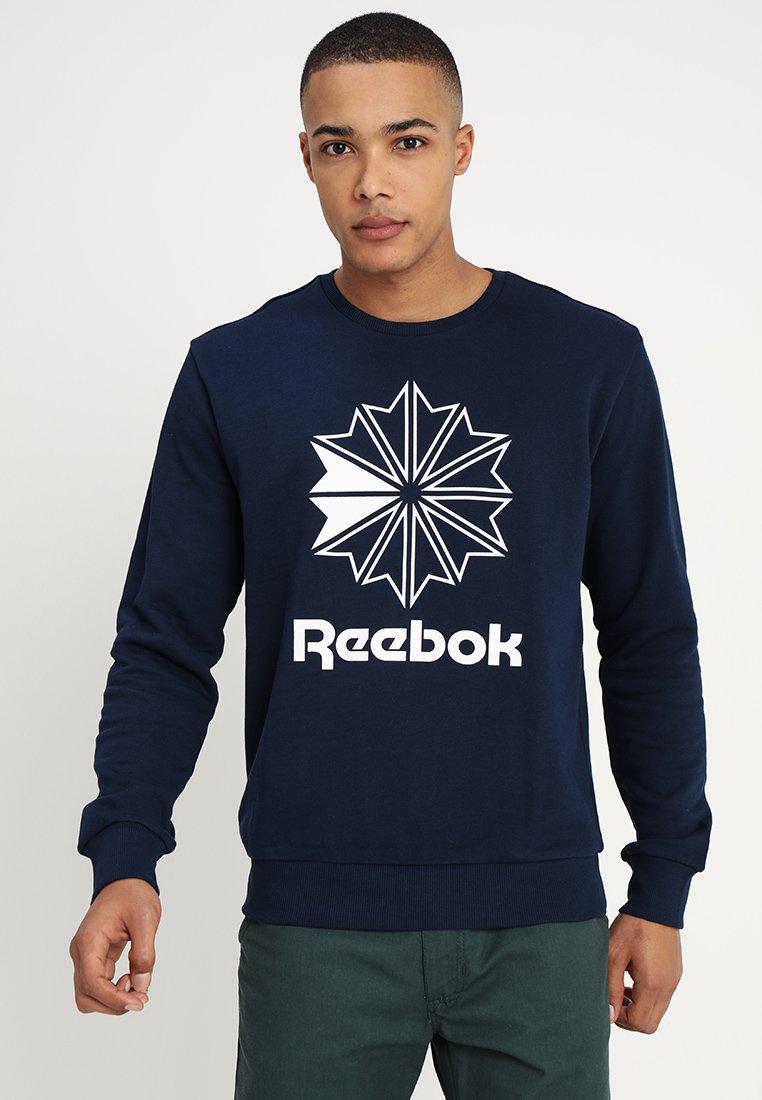 Reebok Classic - BIG STARCREST CREW - Sweatshirt - conavy/white