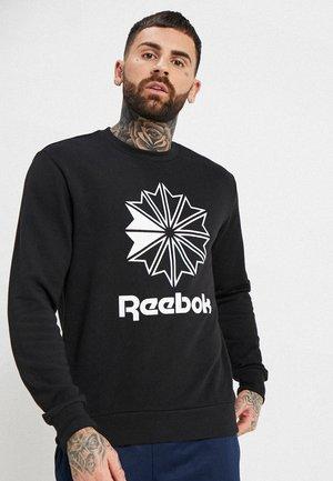 BIG STARCREST CREW - Sweatshirt - black/white
