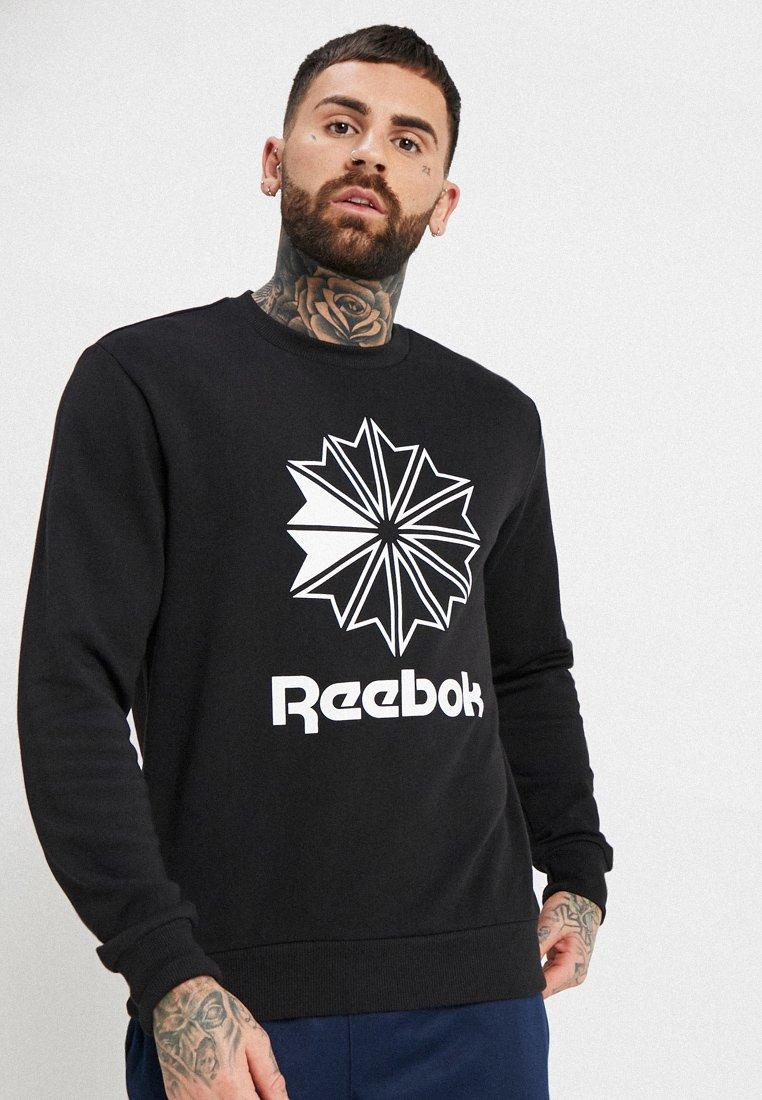 Reebok Classic - BIG STARCREST CREW - Sweatshirt - black/white