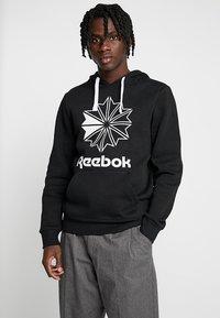 Reebok Classic - BIG LOGO HOODIE - Hoodie - black - 0