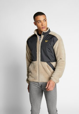 TRAIL HOODIE - Fleece jacket - sandbe