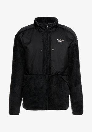 TRAIL HOODIE - Fleece jacket - black