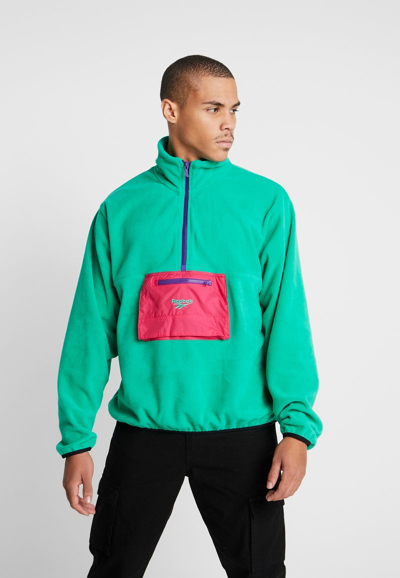 Reebok Classic - HALF ZIP POLAR - Fleece jumper - emerald