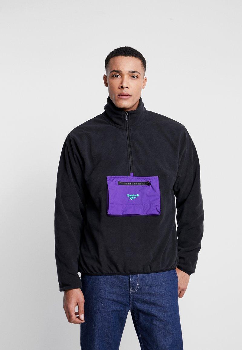 Reebok Classic - HALF ZIP POLAR - Fleece jumper - black