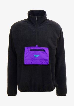 HALF ZIP POLAR - Bluza z polaru - black