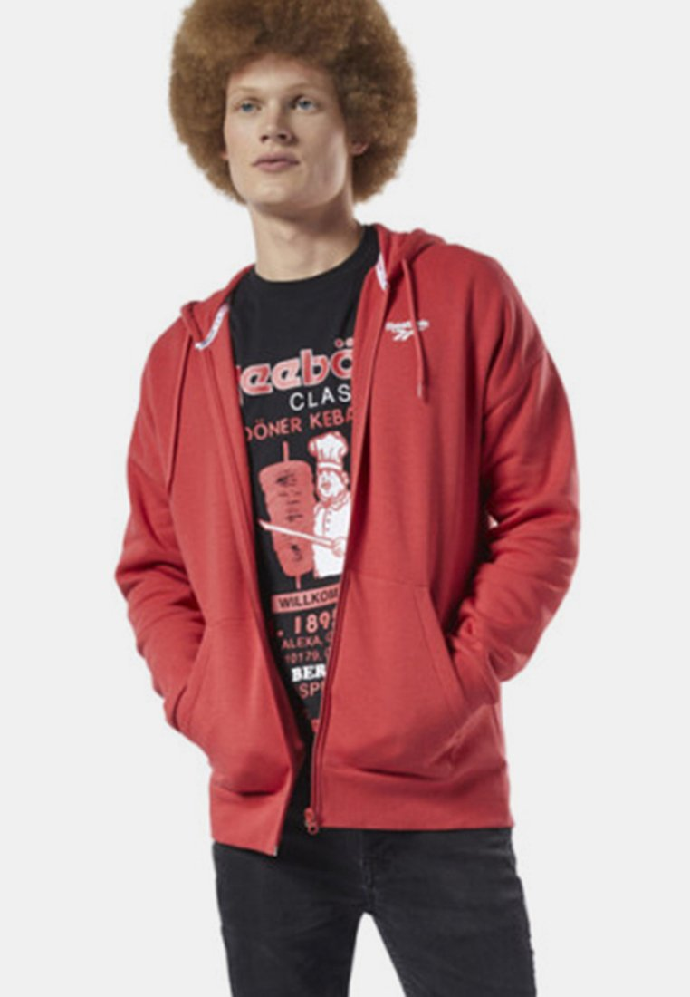 Reebok Classic - CLASSICS INTERNATIONAL GRAPHIC HOODIE - Hoodie met rits - red/white