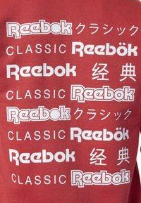 Reebok Classic - CLASSICS INTERNATIONAL GRAPHIC HOODIE - Huvtröja med dragkedja - red/white - 5