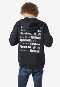 Reebok Classic - CLASSICS INTERNATIONAL GRAPHIC HOODIE - Hoodie met rits - black - 2