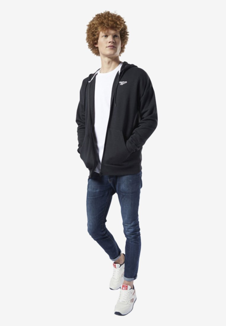 Reebok Classic - CLASSICS INTERNATIONAL GRAPHIC HOODIE - Hoodie met rits - black