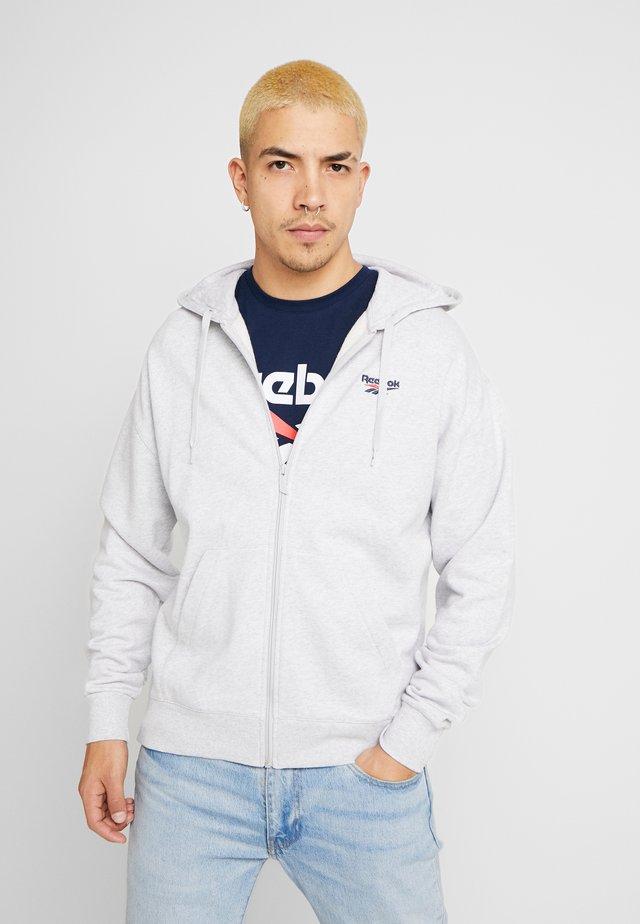 FOUNDATION CASUAL FULLZIP HODDIE PULLOVER - Zip-up hoodie - grey
