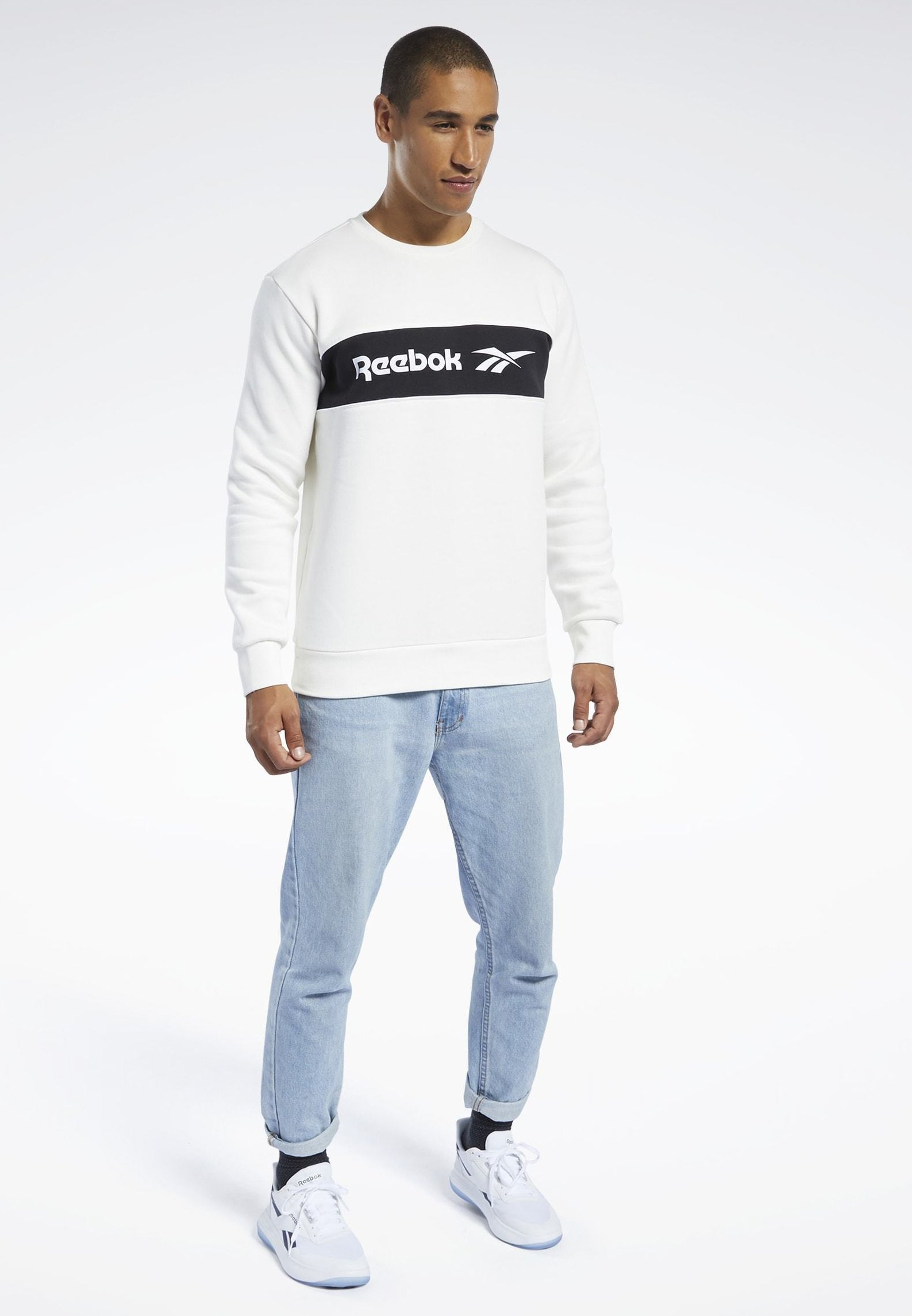 Reebok Classic Classics Linear Crew Sweatshirt - White