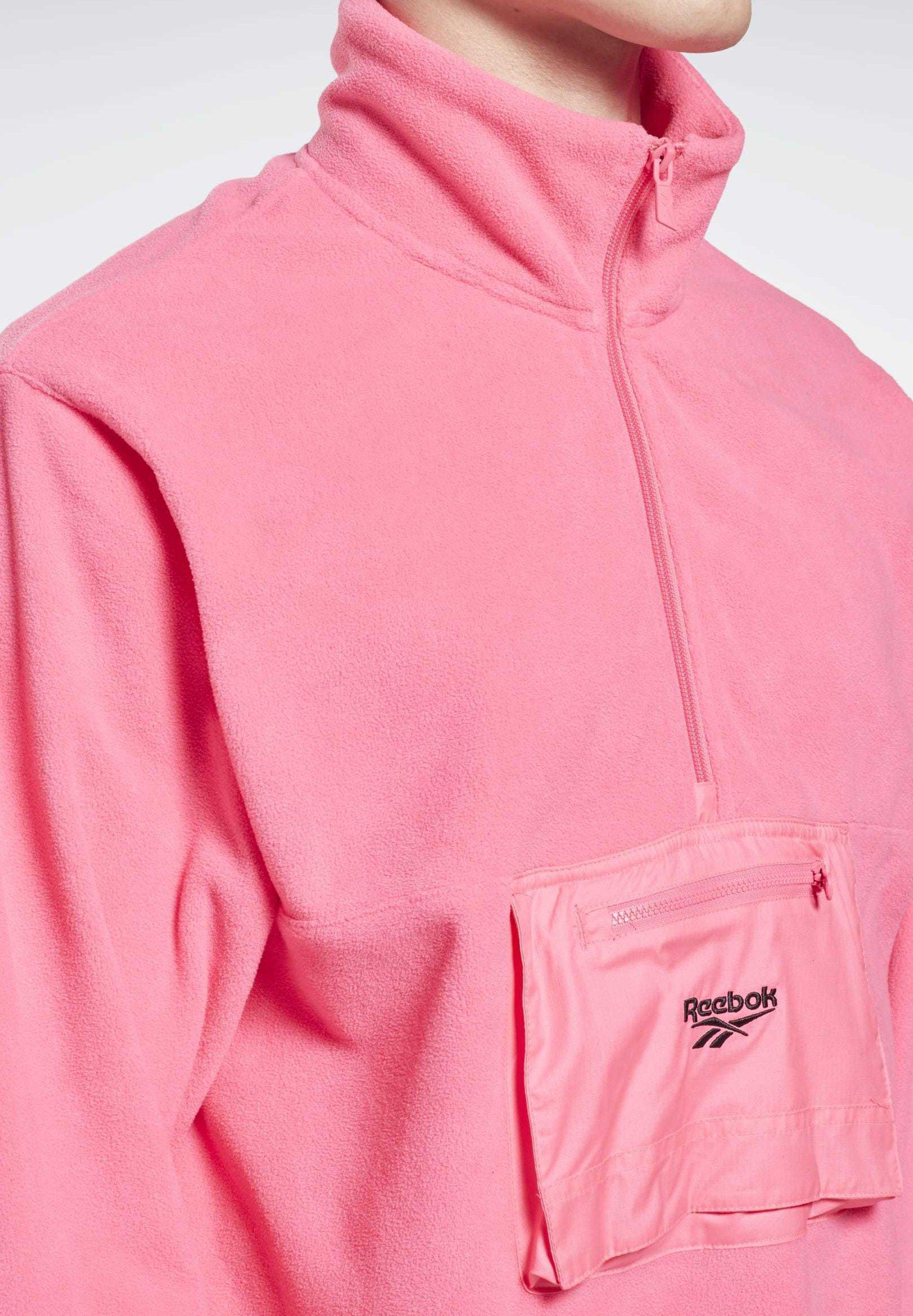HALF ZIP Sweat polaire pink