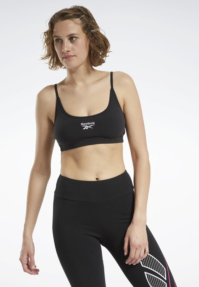 CLASSIC SMALL LOGO LOW-IMPACT BRA - Sports bra - black