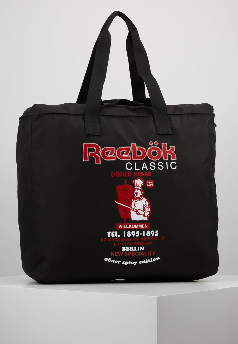 Reebok Classic - GRAPHIC FOOD TOTE - Sports bag - black