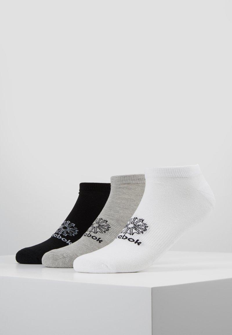 Reebok Classic - NO SHOW SOCK 3 PACK - Socken - white/medium grey heather/black