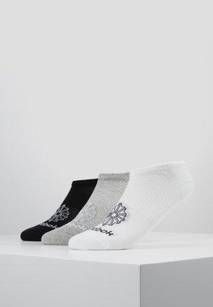 INVISIBLE 3 PACK - Calze - white/medium grey heather/black