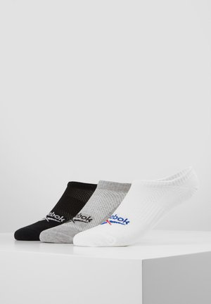 INVISIBLE SOCK 3 PACK - Chaussettes - white/mgreyh/black