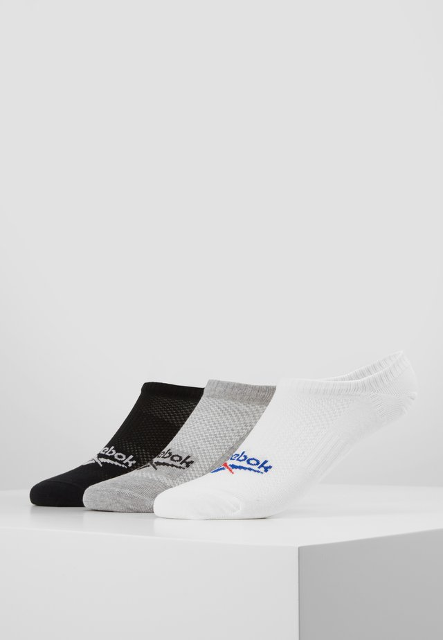 INVISIBLE SOCK 3 PACK - Ponožky - white/mgreyh/black
