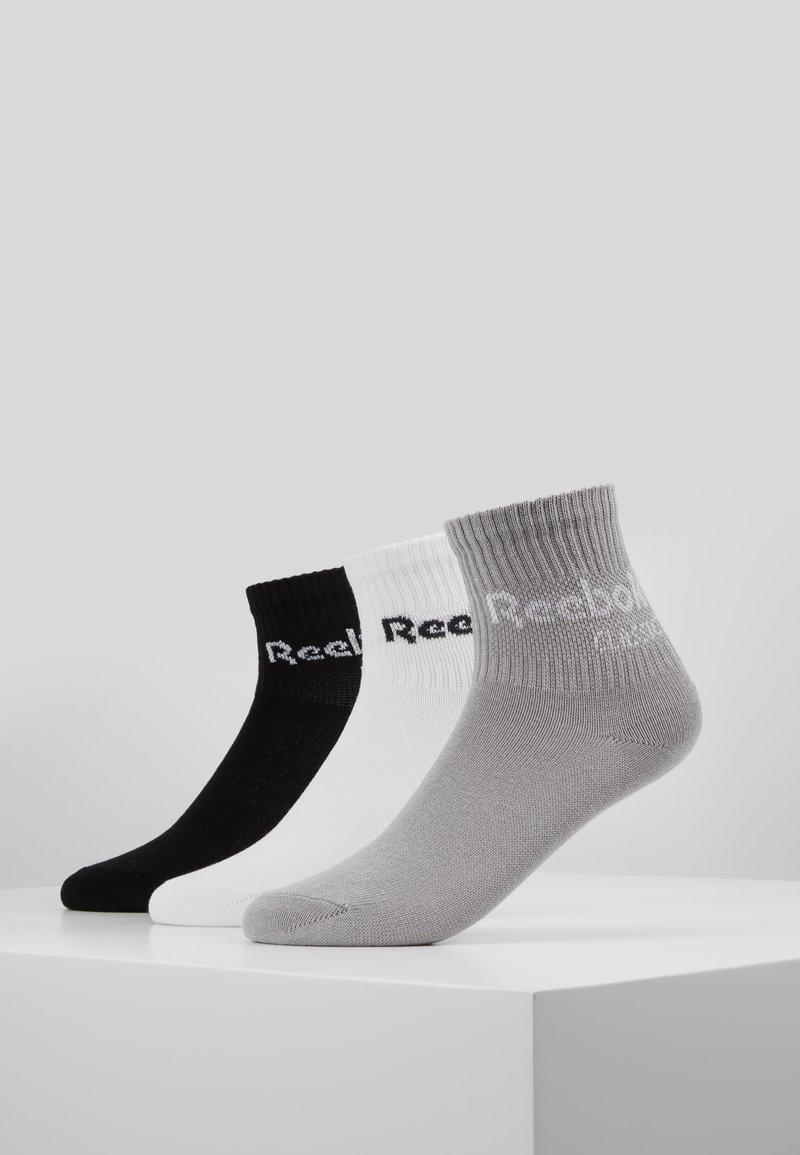 Reebok Classic - CORE CREW 3PACK - Sokker - black/white/medium grey heather