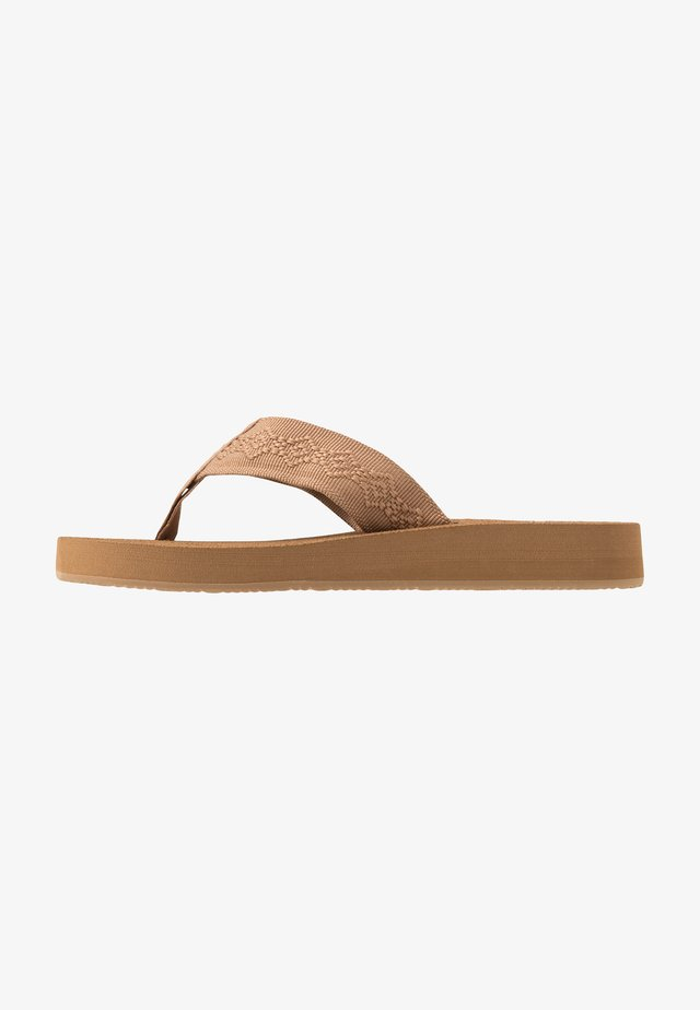 SANDY - T-bar sandals - tan
