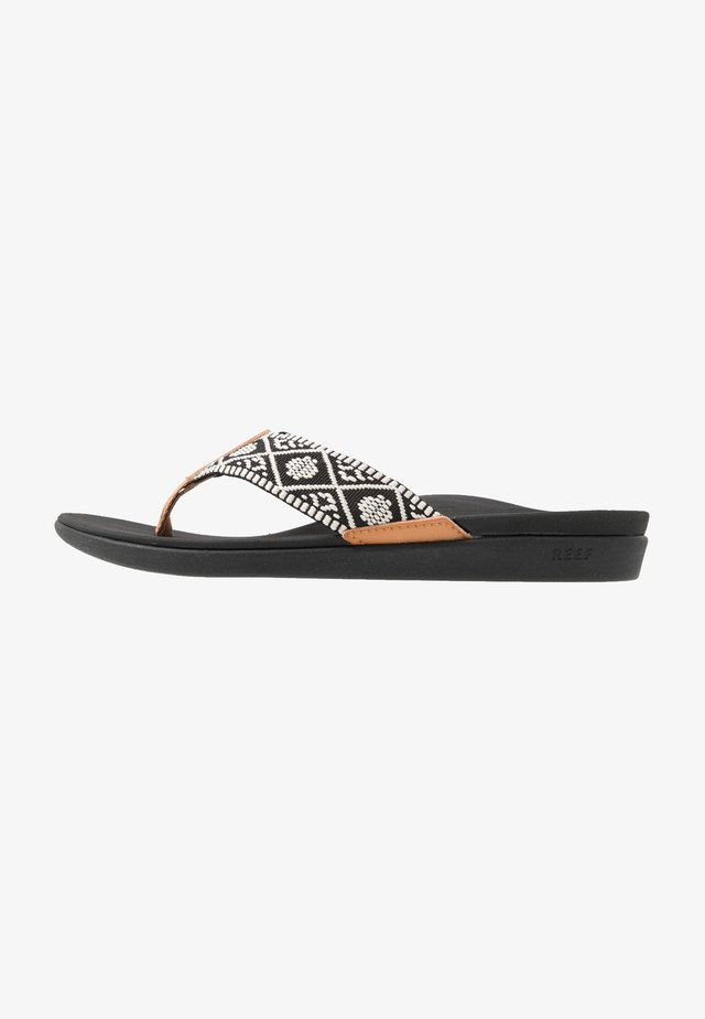 ORTHO-BOUNCE - T-bar sandals - black/white