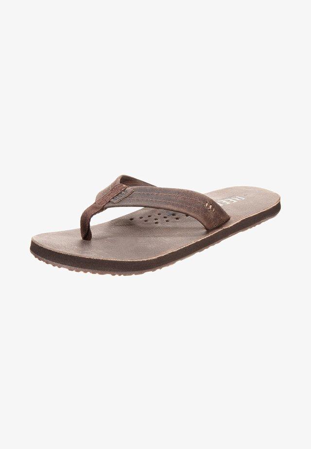 DRAFTSMAN - T-bar sandals - chocolate