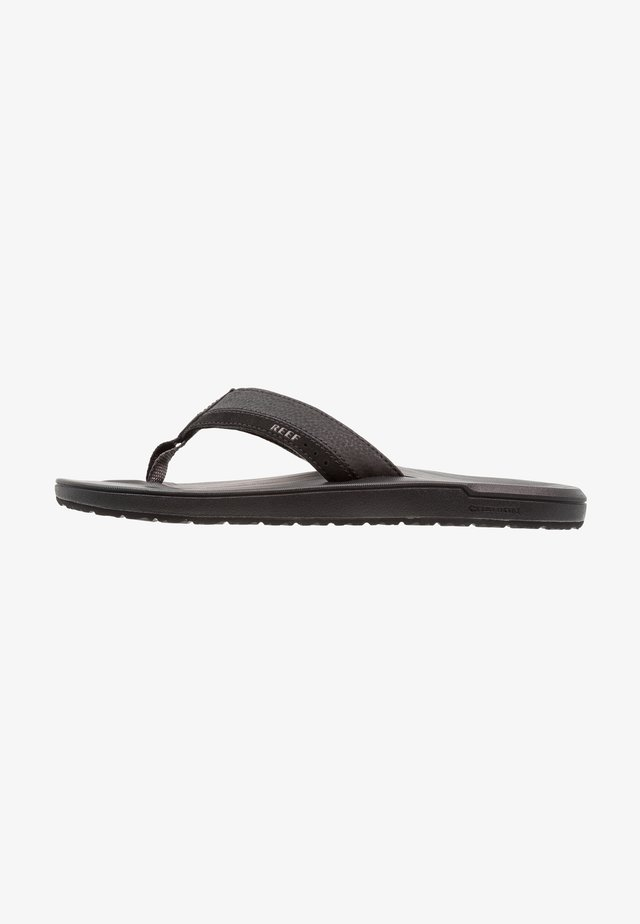 CONTOURED CUSHION - T-bar sandals - black