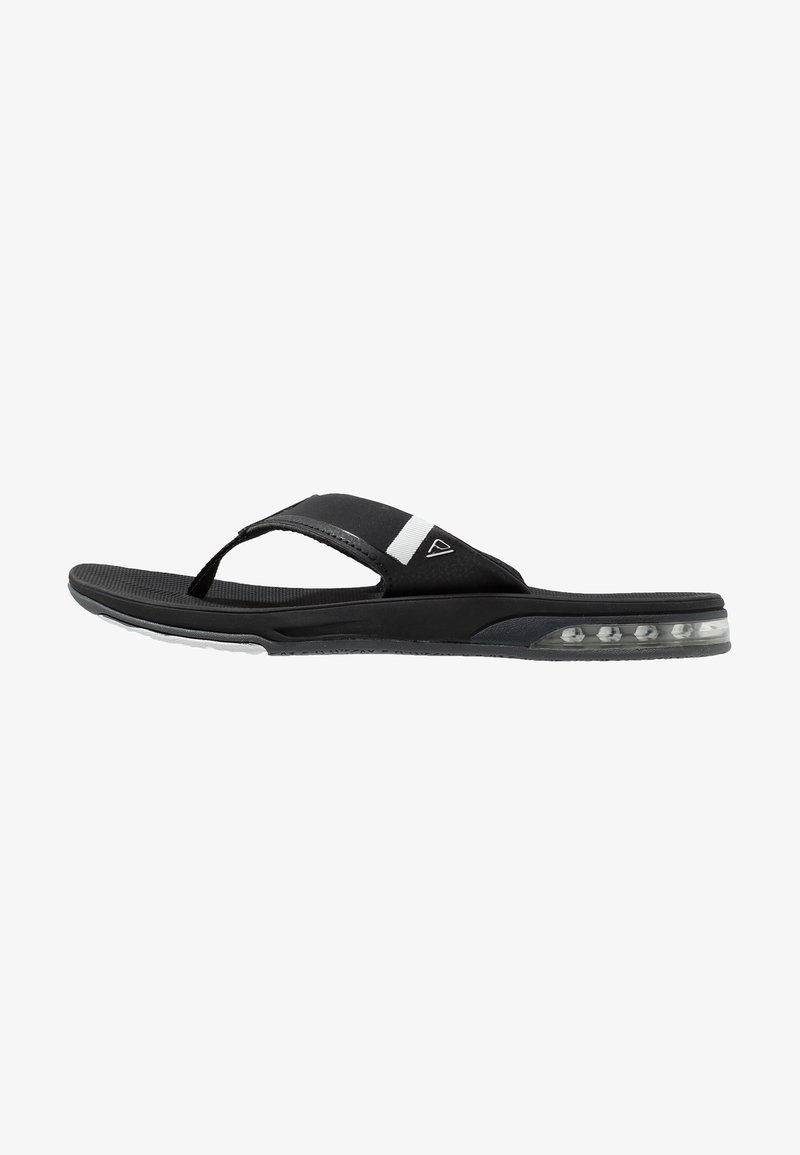 Reef - FANNING LOW BLACK - T-bar sandals - black/white