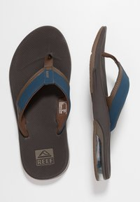 Reef - FANNING LOW BLACK - Teensandalen - navy/brown - 1