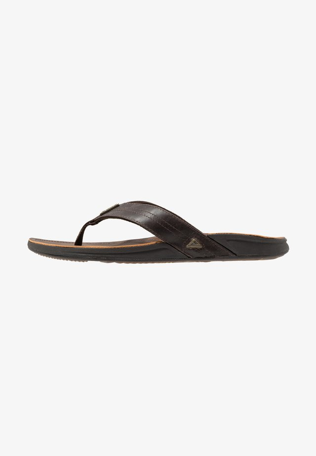 J-BAY - T-bar sandals - dark brown
