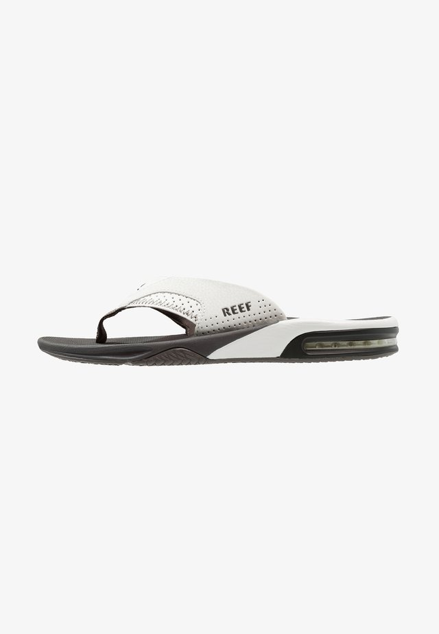 T-bar sandals - grey/white