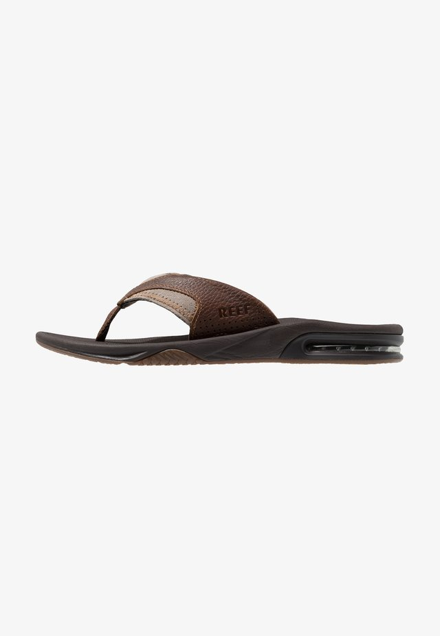 FANNING - T-bar sandals - brown