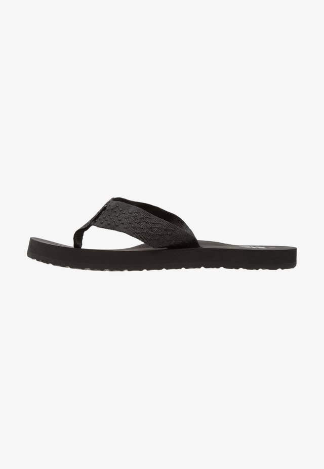 SMOOTHY - T-bar sandals - black