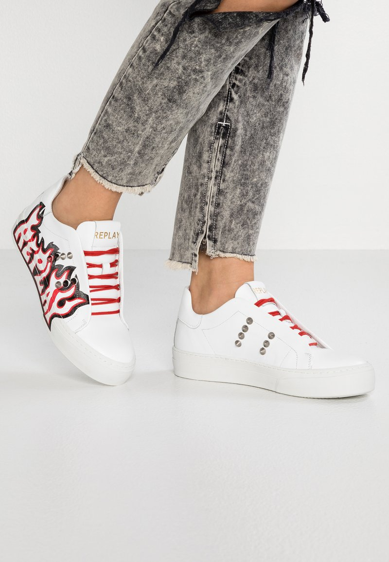Replay - AVA - Sneaker low - white/black/red