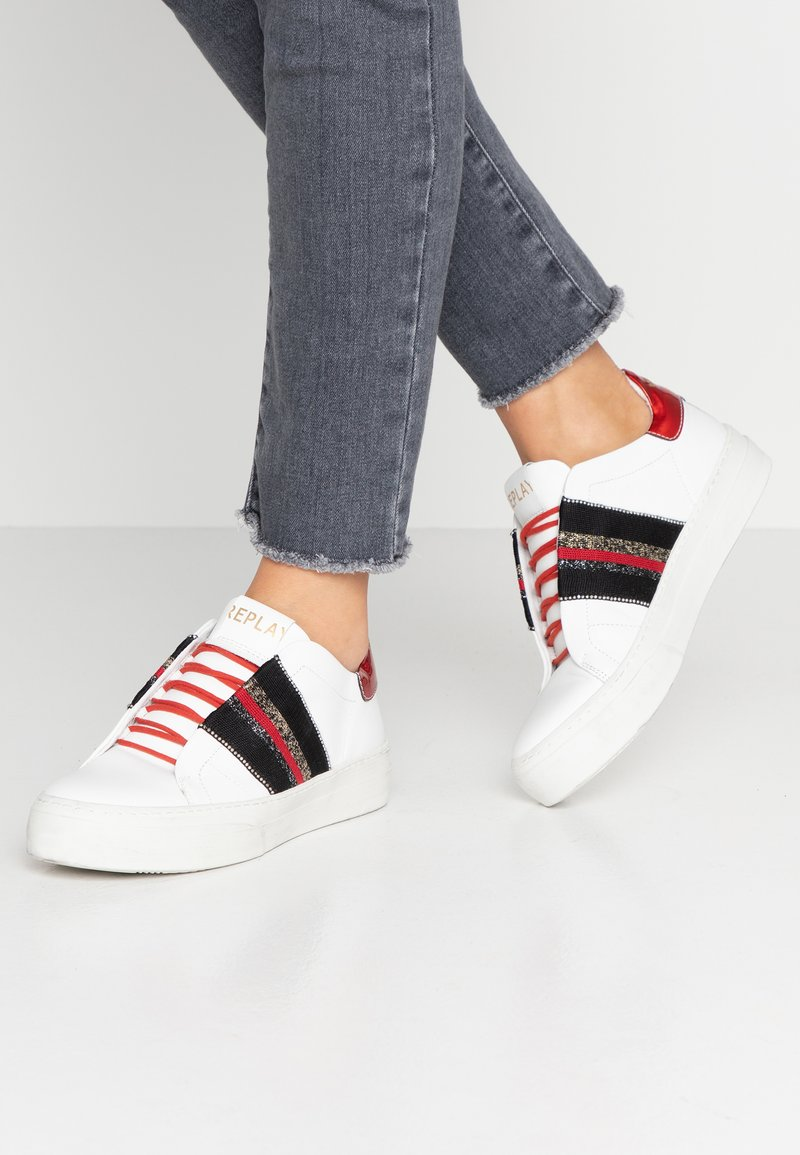 Replay - FRASER - Sneaker low - white/red