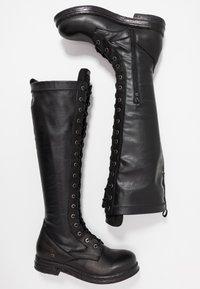Replay - MIRANDA - Stivali con i lacci - black - 3