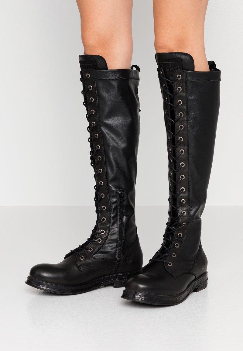 Replay - MIRANDA - Stivali con i lacci - black