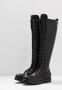 Replay - MIRANDA - Stivali con i lacci - black - 4