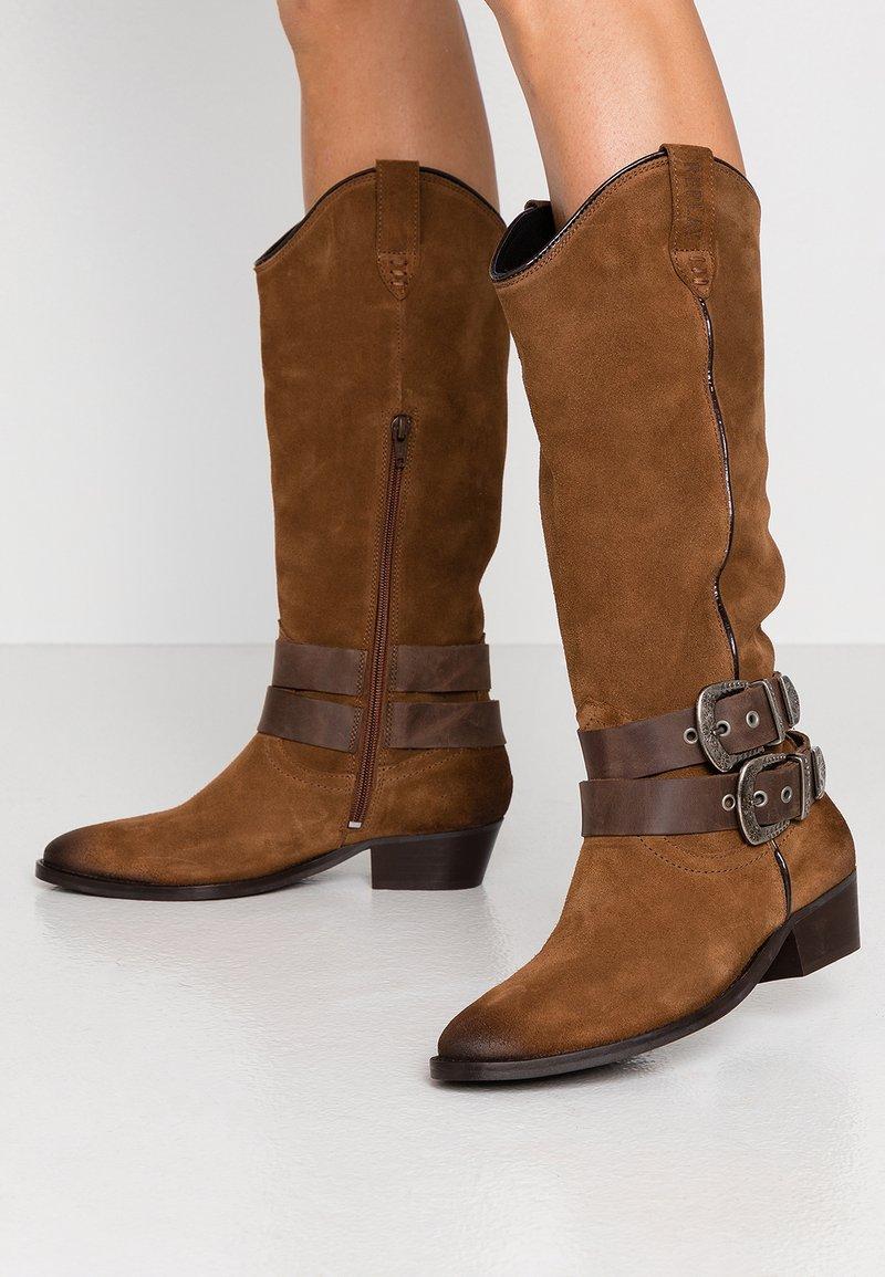 Replay - FRUITLAND NEW - Stivali texani / biker - brown
