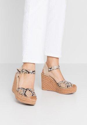 WATTLET - High heeled sandals - brown