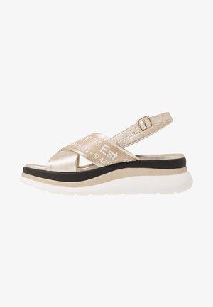 AUDRI - Platform sandals - platinum