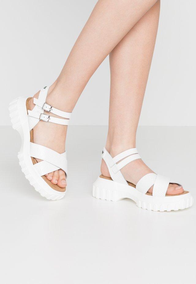 ATLAN - Sandały na platformie - white