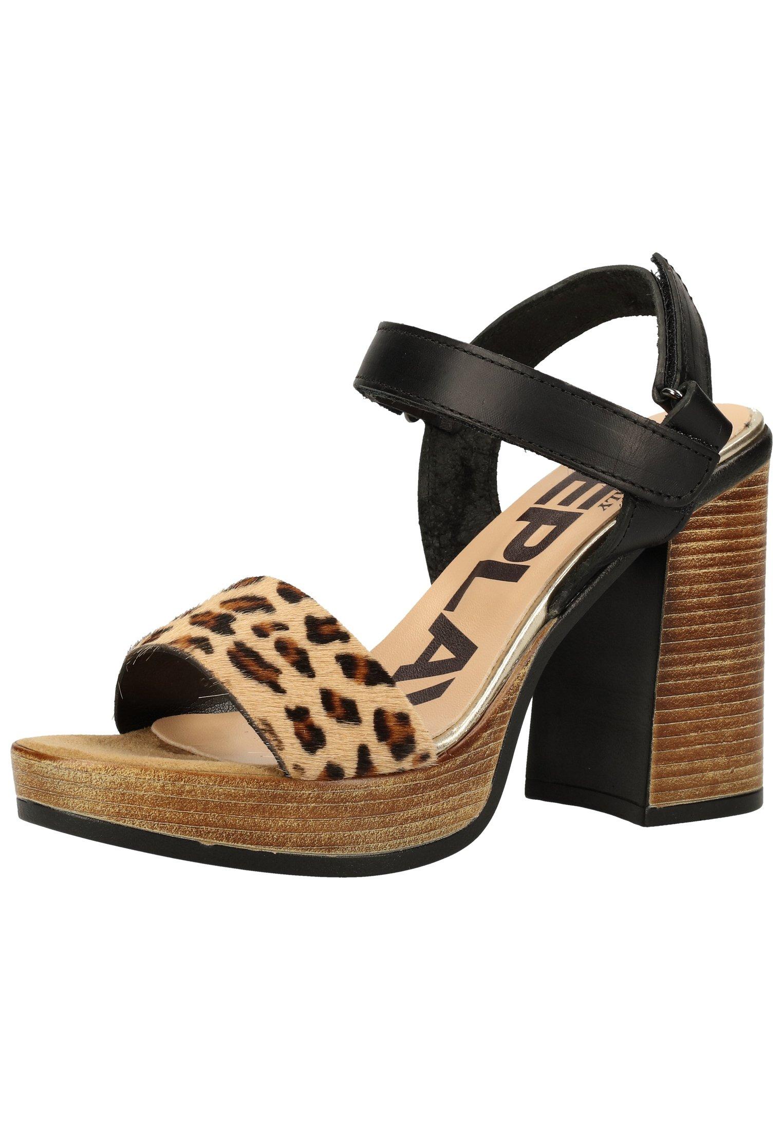 Replay Sandales à talons hauts - black leopard