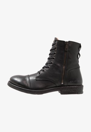 PHIM - Bottines à lacets - black
